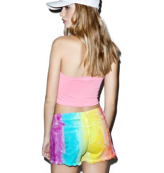 Cosmic Unicornz Acid Rainbow Shorts
