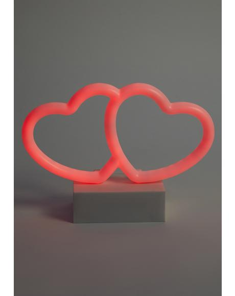 Two Lovers Neon Desk Light
