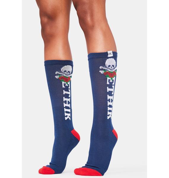 ETHIK Navy Marauder Socks