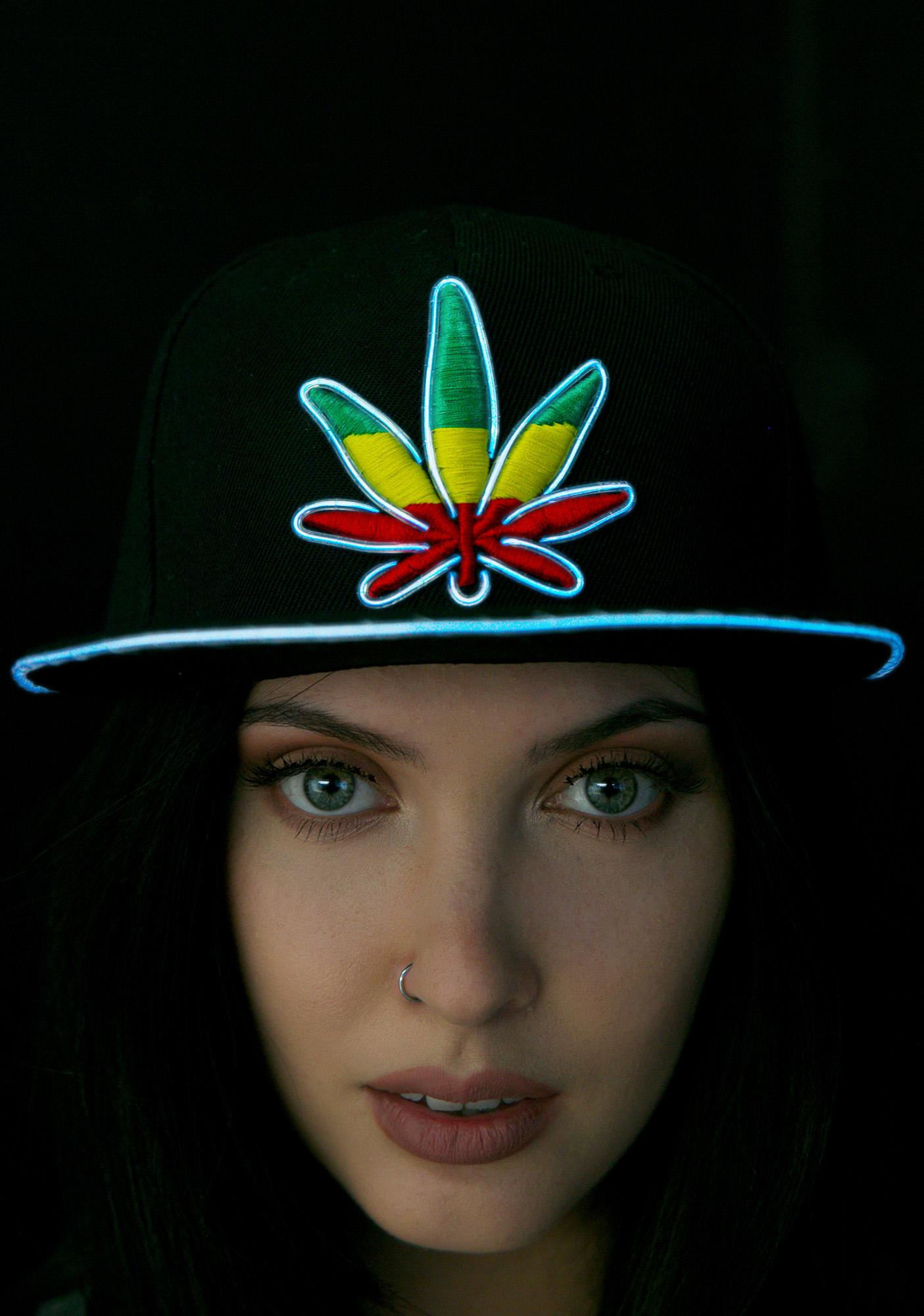 Electric Styles Light Up Marijuana Hat