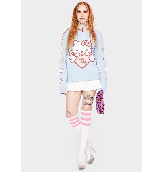 NEW GIRL ORDER Hello Kitty Angel Heart Sweatshirt