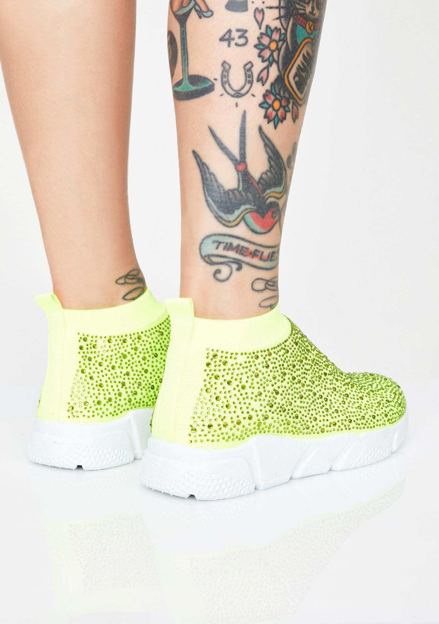 AZALEA WANG Diamonds Sock Sneakers