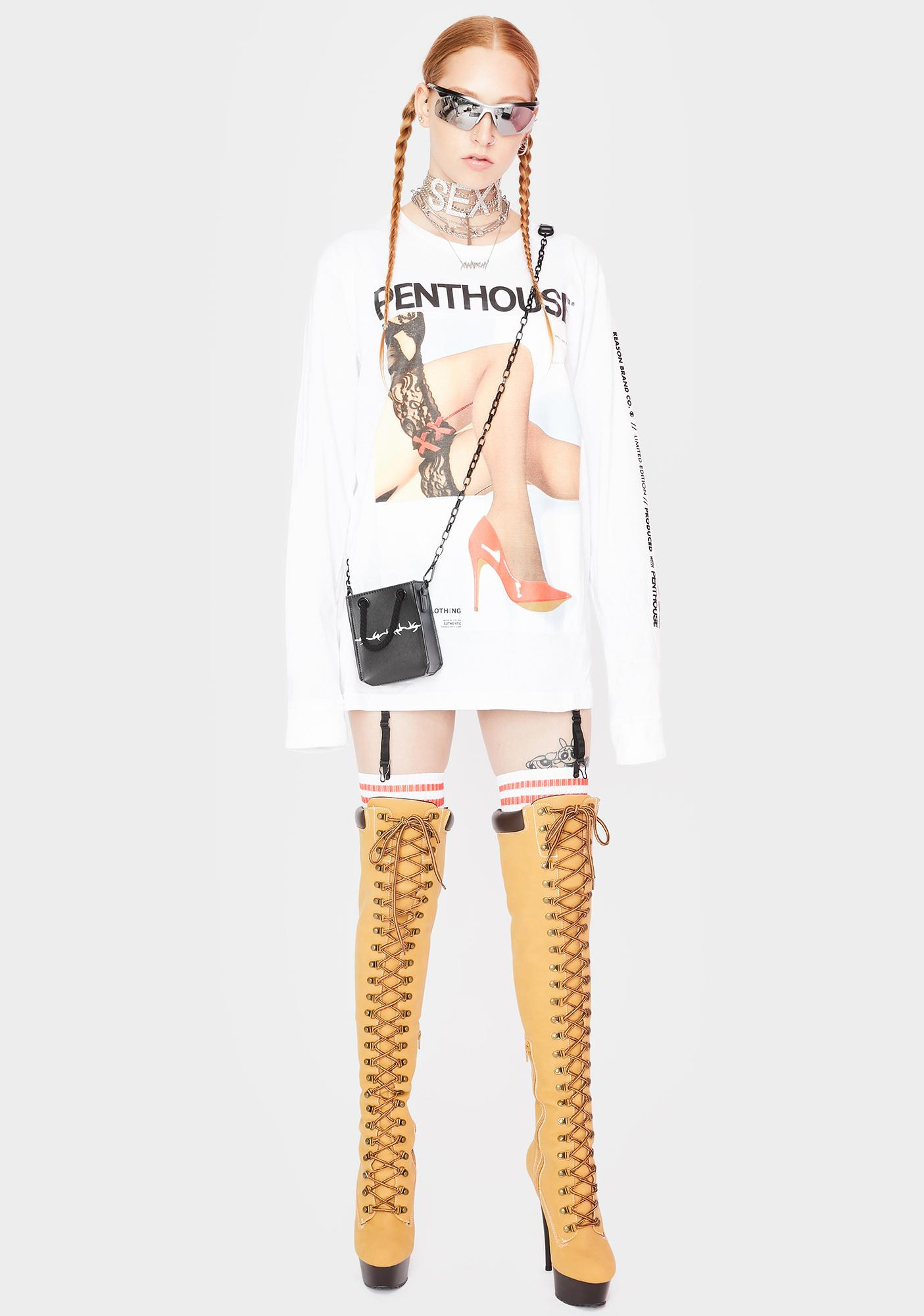 Reason X Penthouse Legs Graphic Long Sleeve Tee