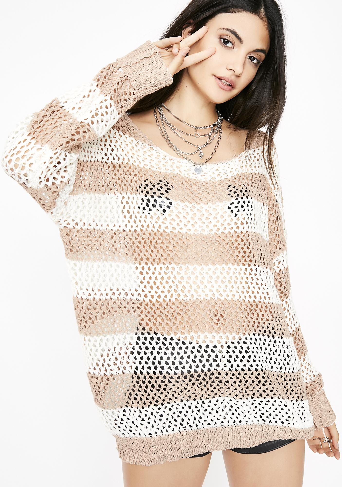 The Best Time Striped Sweater by O O