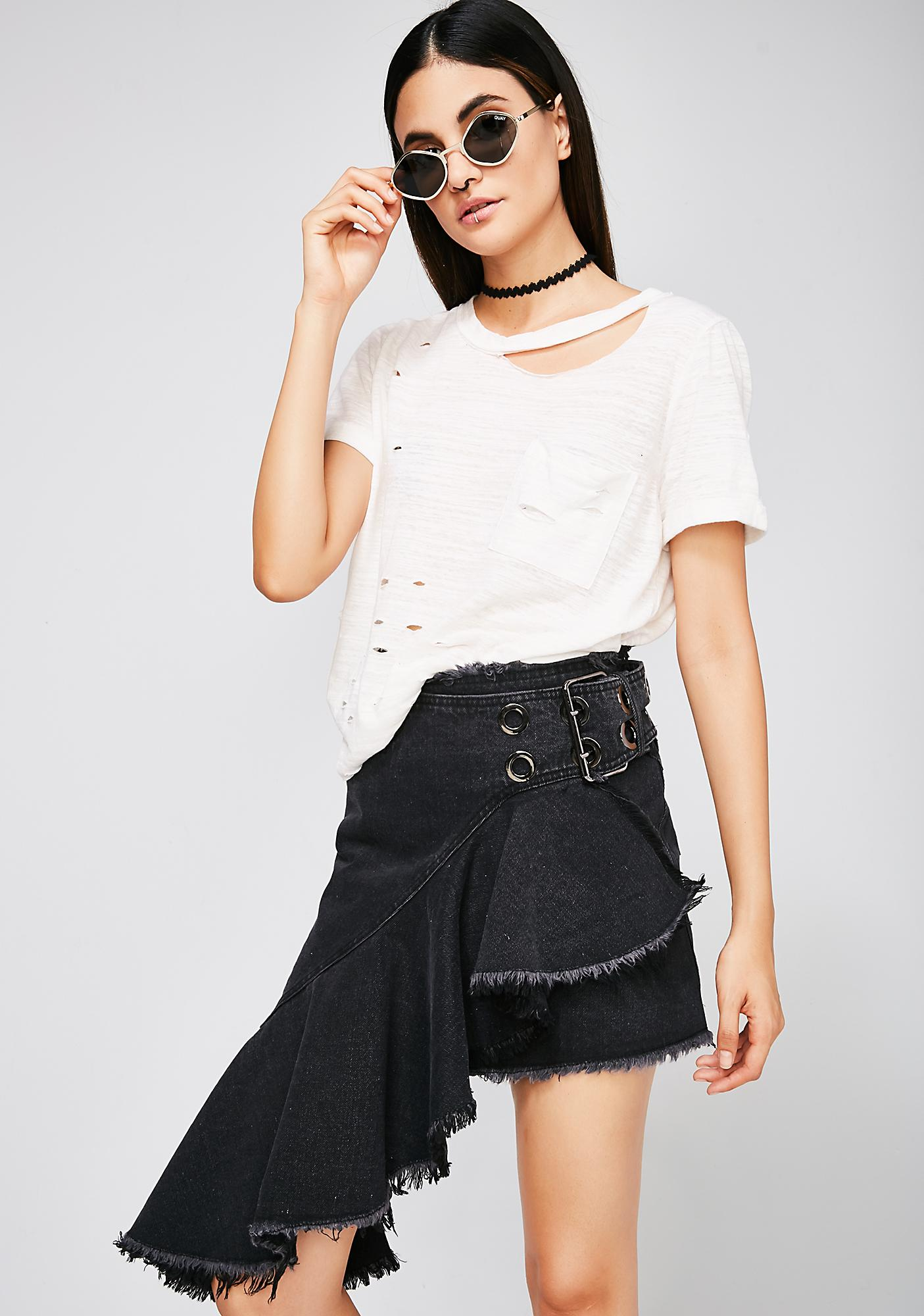 No Traditions Denim Skirt