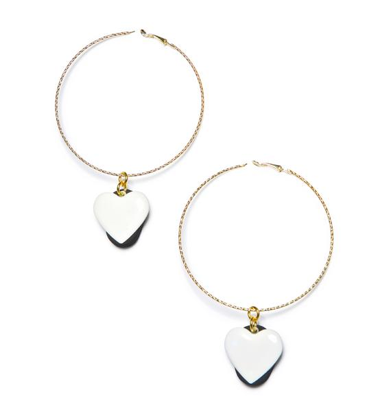 Trixy Starr L.E.D Love Hoop Earrings