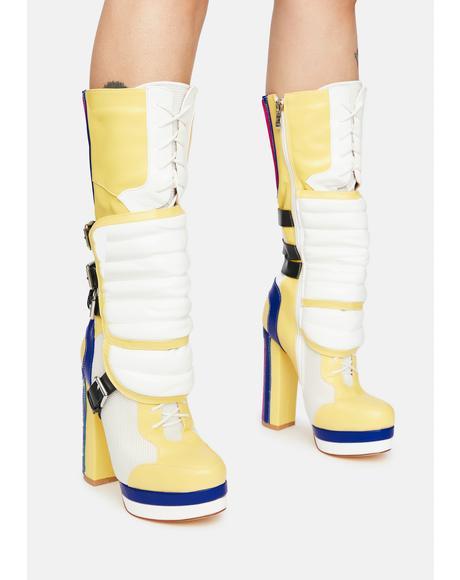 Shabby Moto Boots