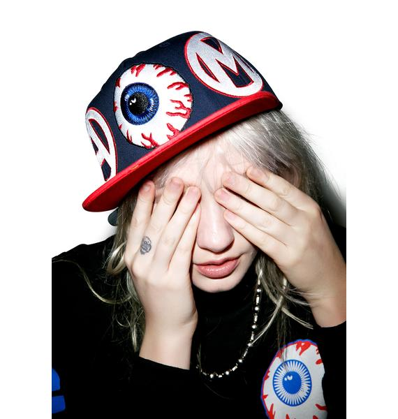 Mishka Varsity Keep Watch Baseball Hat