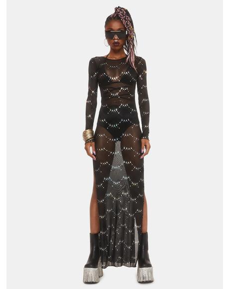Lunar Fantasy Mesh Maxi Dress