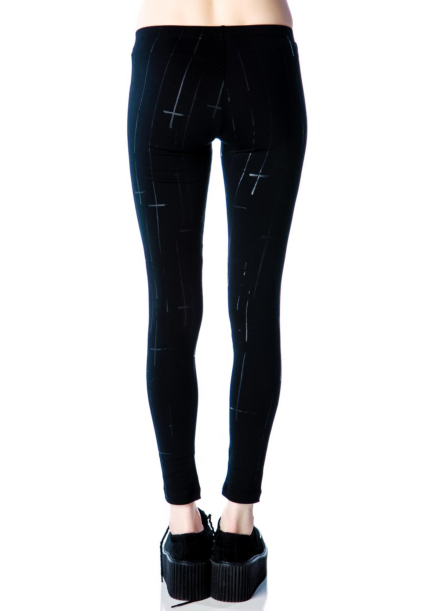 Lip Service Raining Crosses Leggings