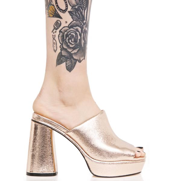 Shellys London Cupid Platform Mules