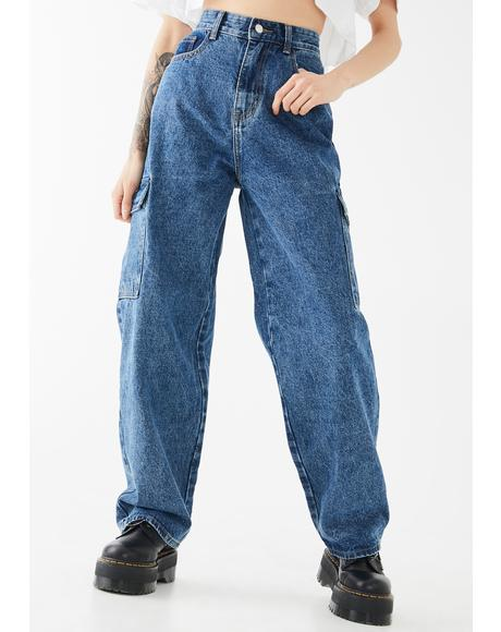 Baggy Pocket Mom Jeans