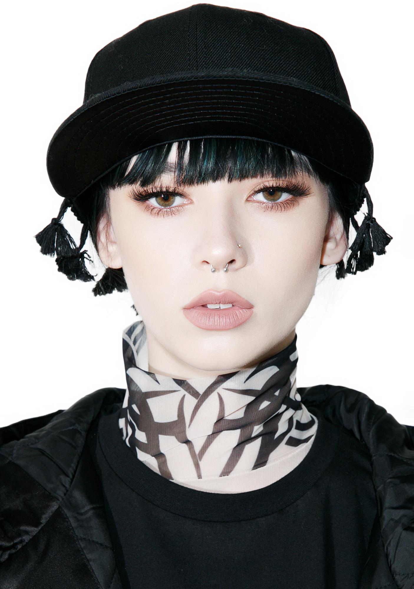 Black Scale Tassel New Era Cap
