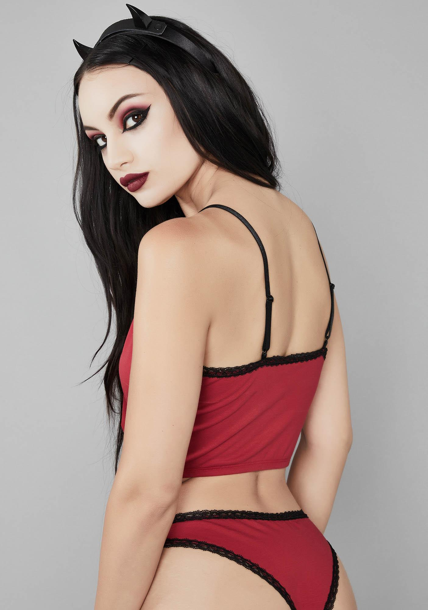 Widow Devil Becomes Her Embroidered Set