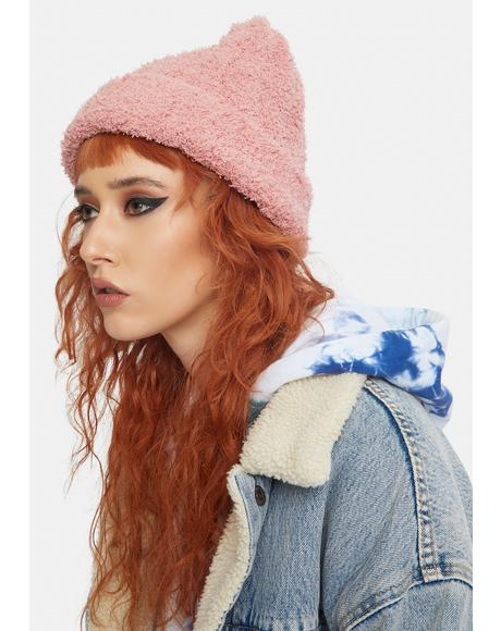 Blush Cloud Rib Beanie