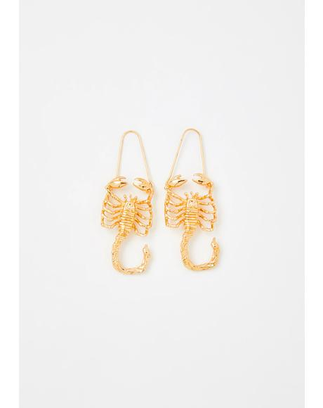 Strategic Scorpio Drop Earrings