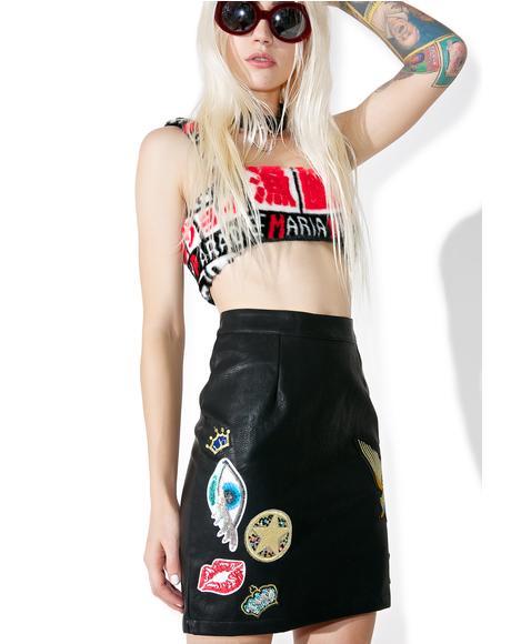 Hellz Angel Mini Skirt
