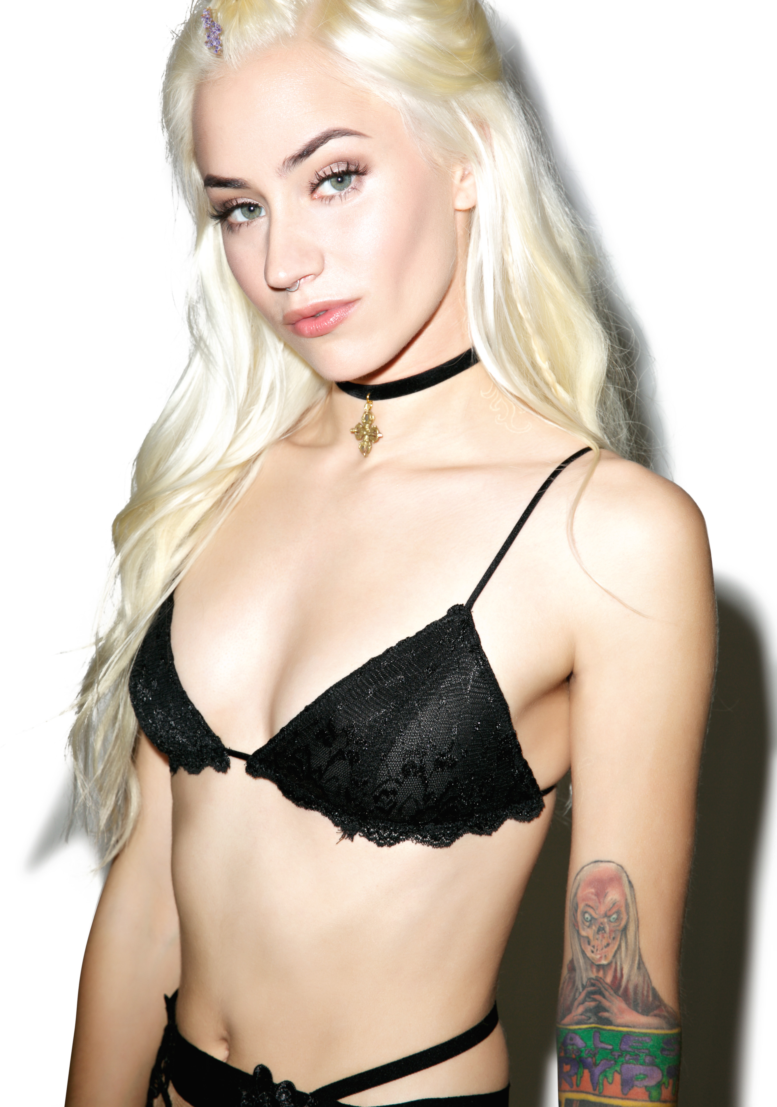 Black Lace Triangle Bralette