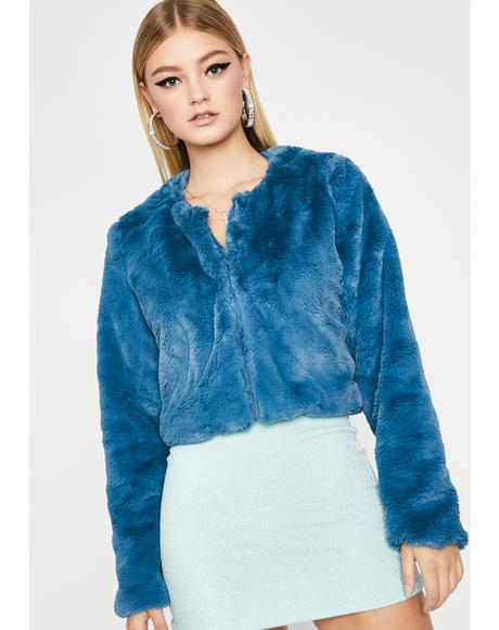 Aqua Get With It Cropped Jacket