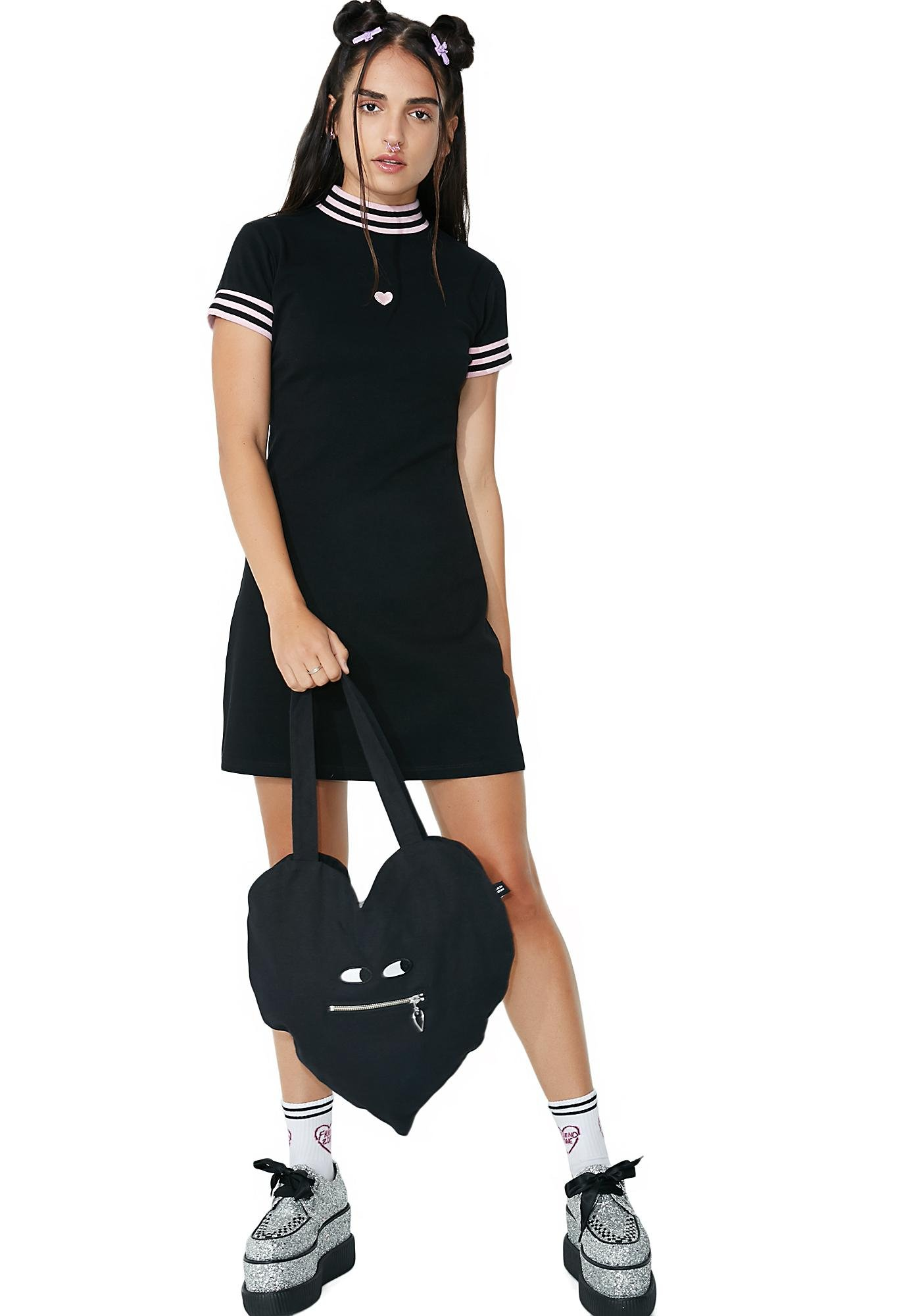 81f1a18a00c ... Lazy Oaf Sports Stripe Dress