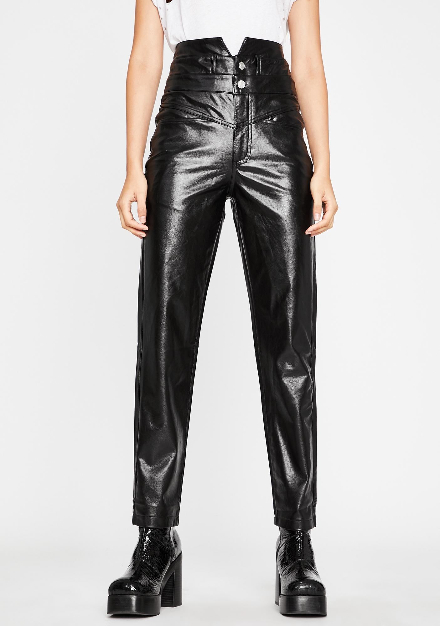 Rebel Respect Faux Leather Pants