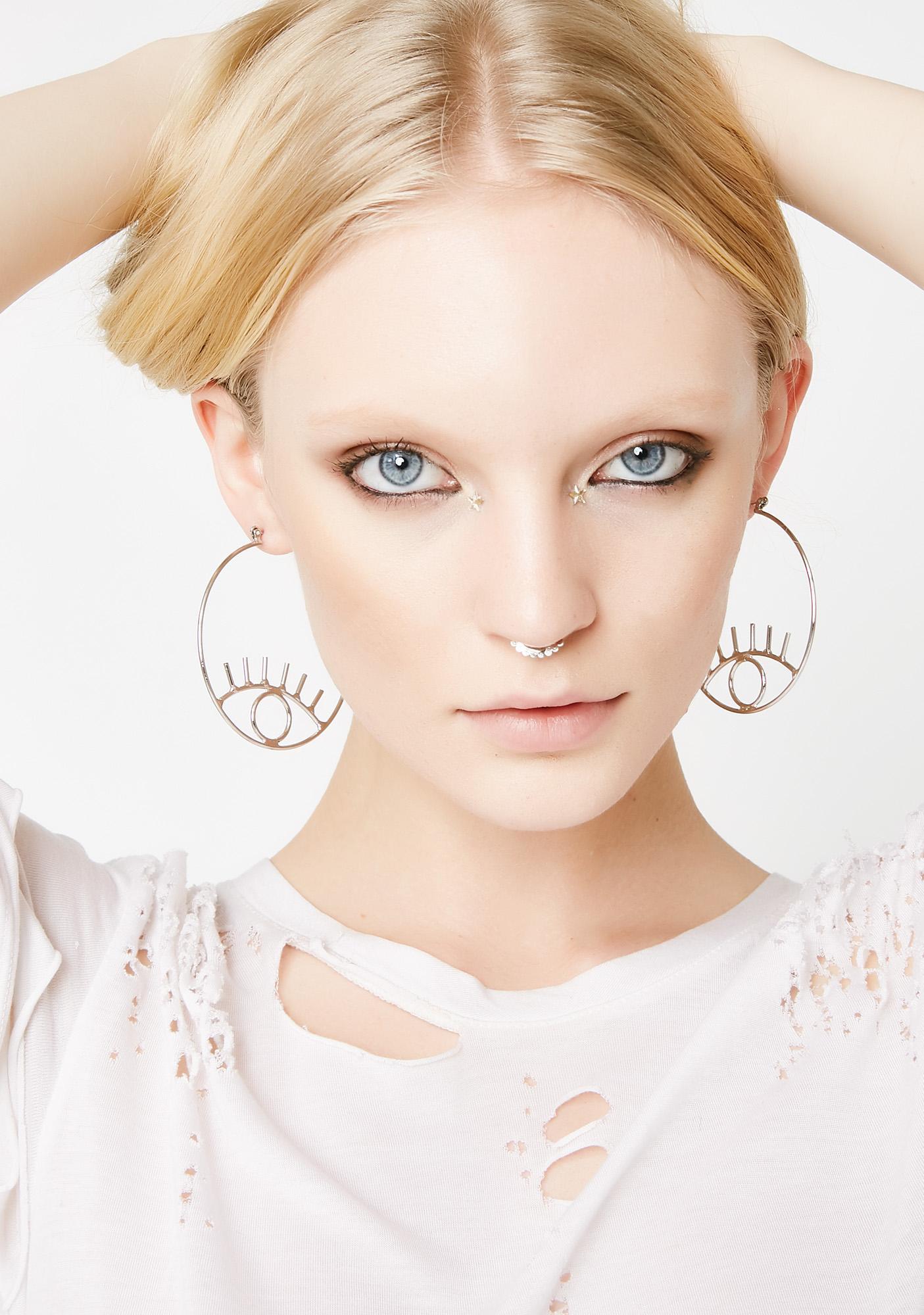 Big Eyez Hoop Earrings