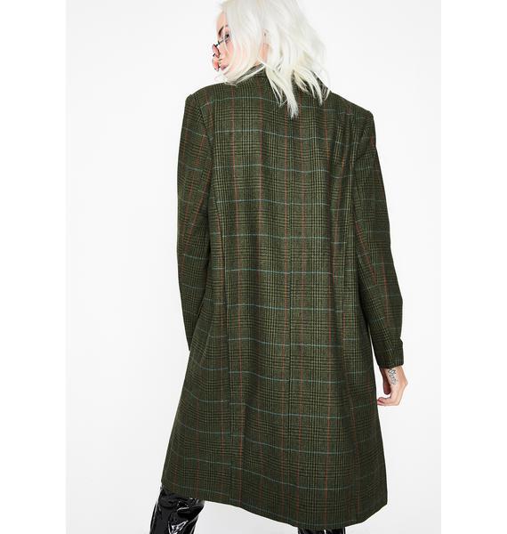 Honors Society Plaid Coat