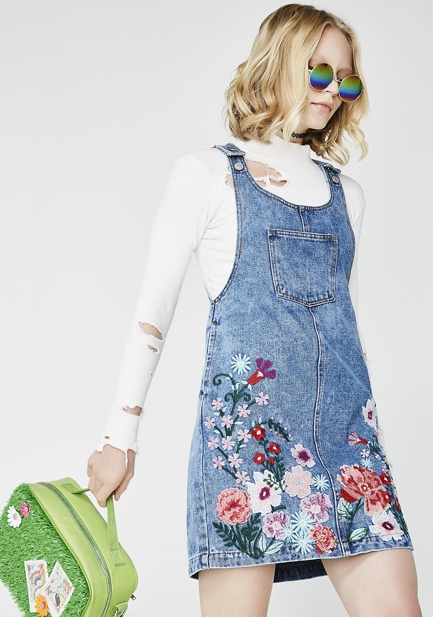 Glamorous Garden Party Pinafore Dress