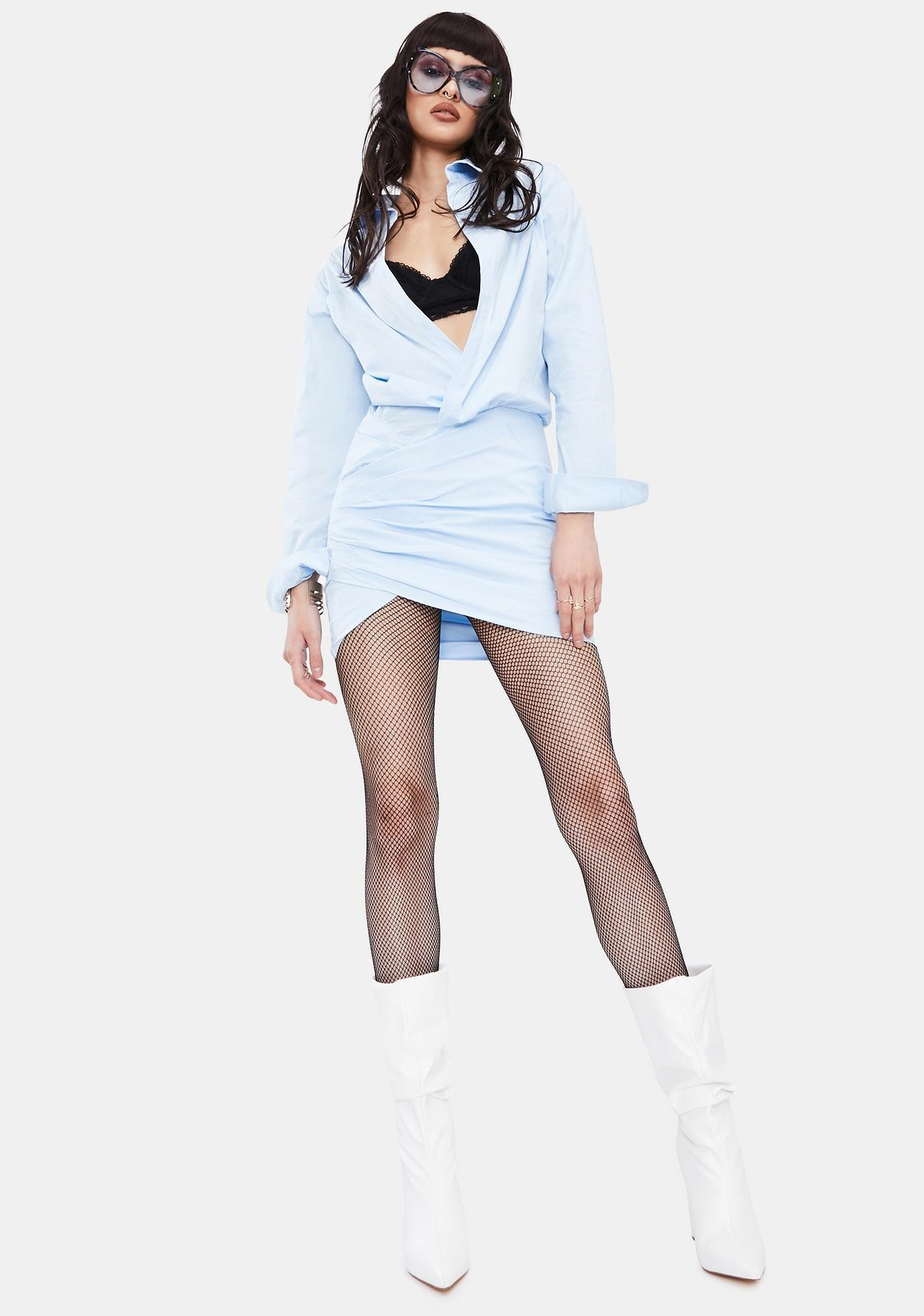 Sky Don't Leave Me Lonely Shirt Dress