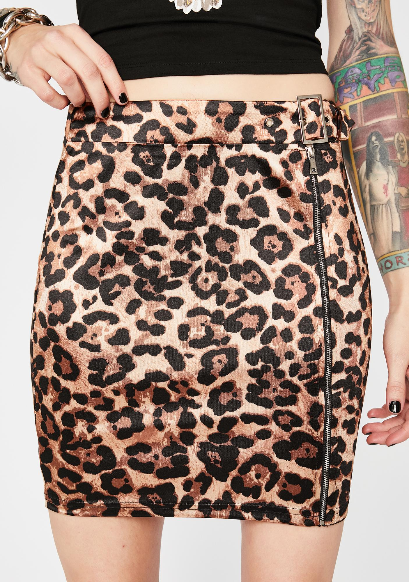 Ride The Wild Side Leopard Skirt