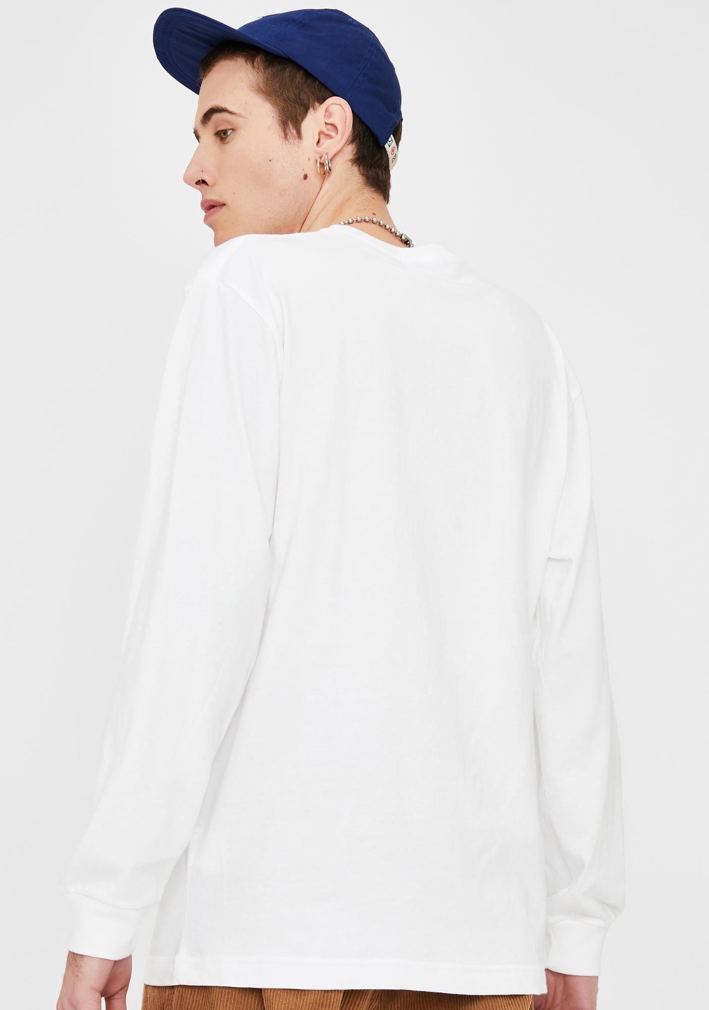 XLARGE White Flower Long Sleeve Graphic Tee