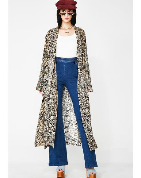 Tropic Fever Leopard Kimono