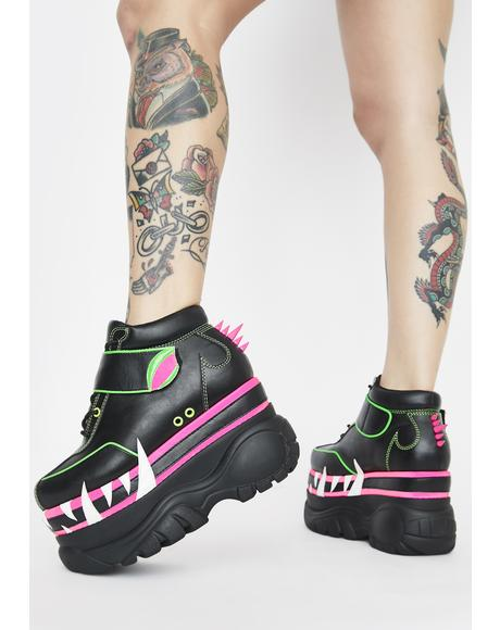 Mega Bite Platform Sneakers
