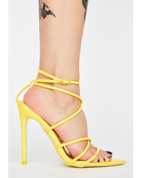Baddie Alert Strappy Heels