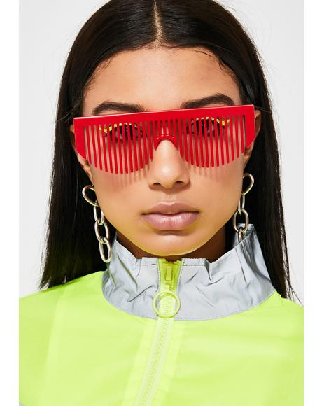 Lit Party Rockers Comb Sunglasses