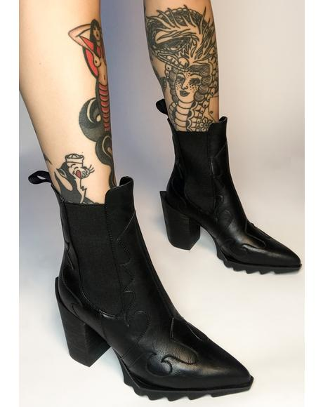 True Cowgirl Ankle Boots