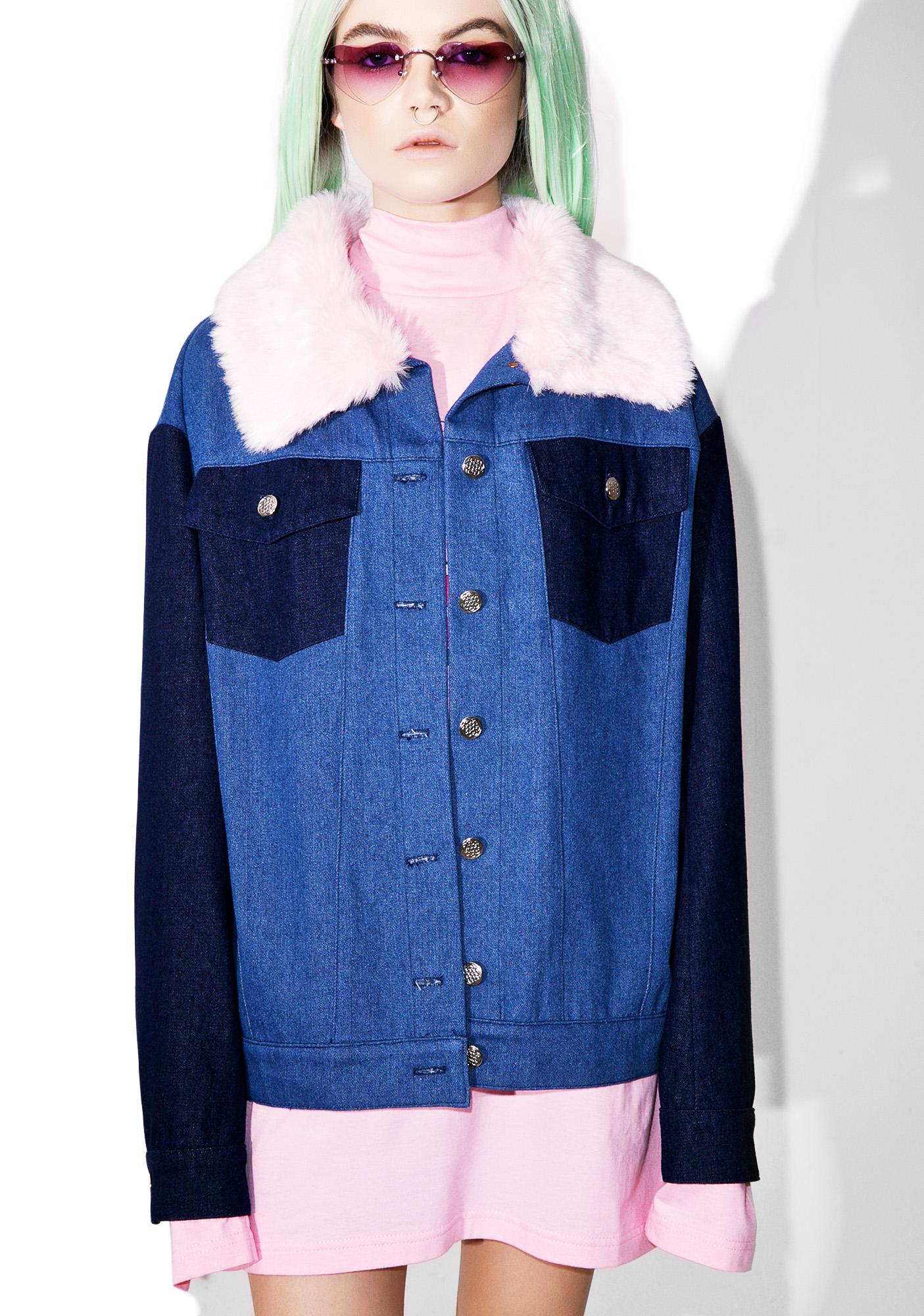 Sugarpills Fur Denim Jacket