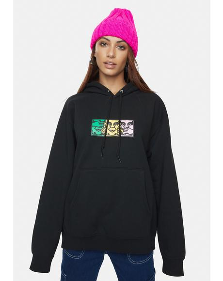 No Evil Graphic Pullover Hoodie