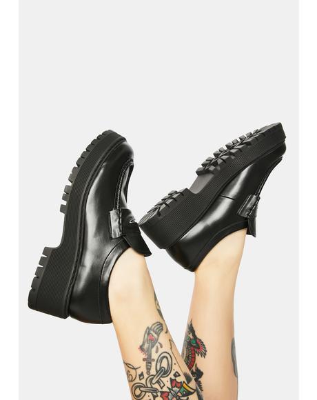 Black Malvern Loafers