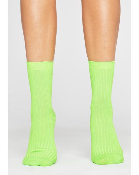 Toxic Stay Movin' Ribbed Socks