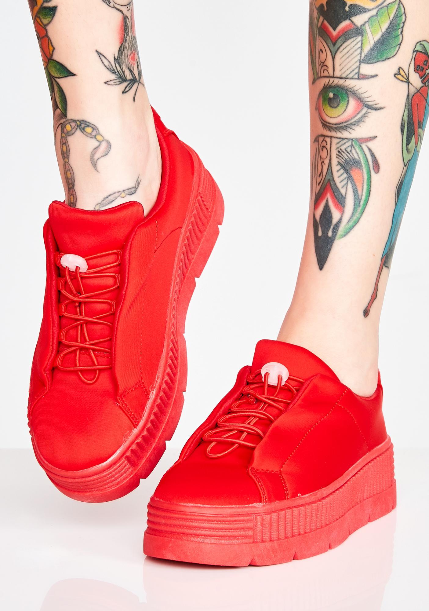 0e96ee40f660 Cherry Anti-Gravity Platform Sneakers