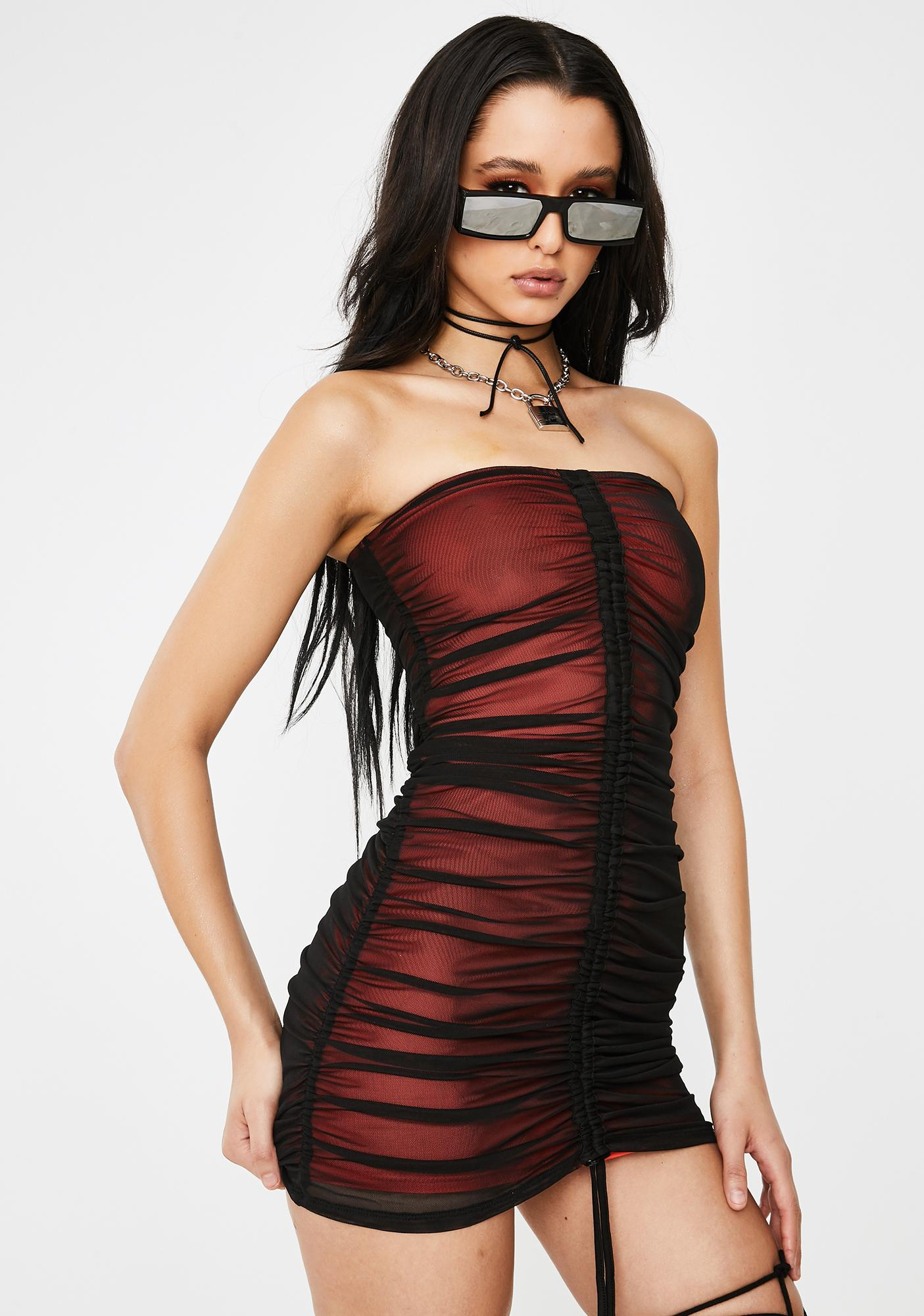 Poster Grl Know My Worth Strapless Dress