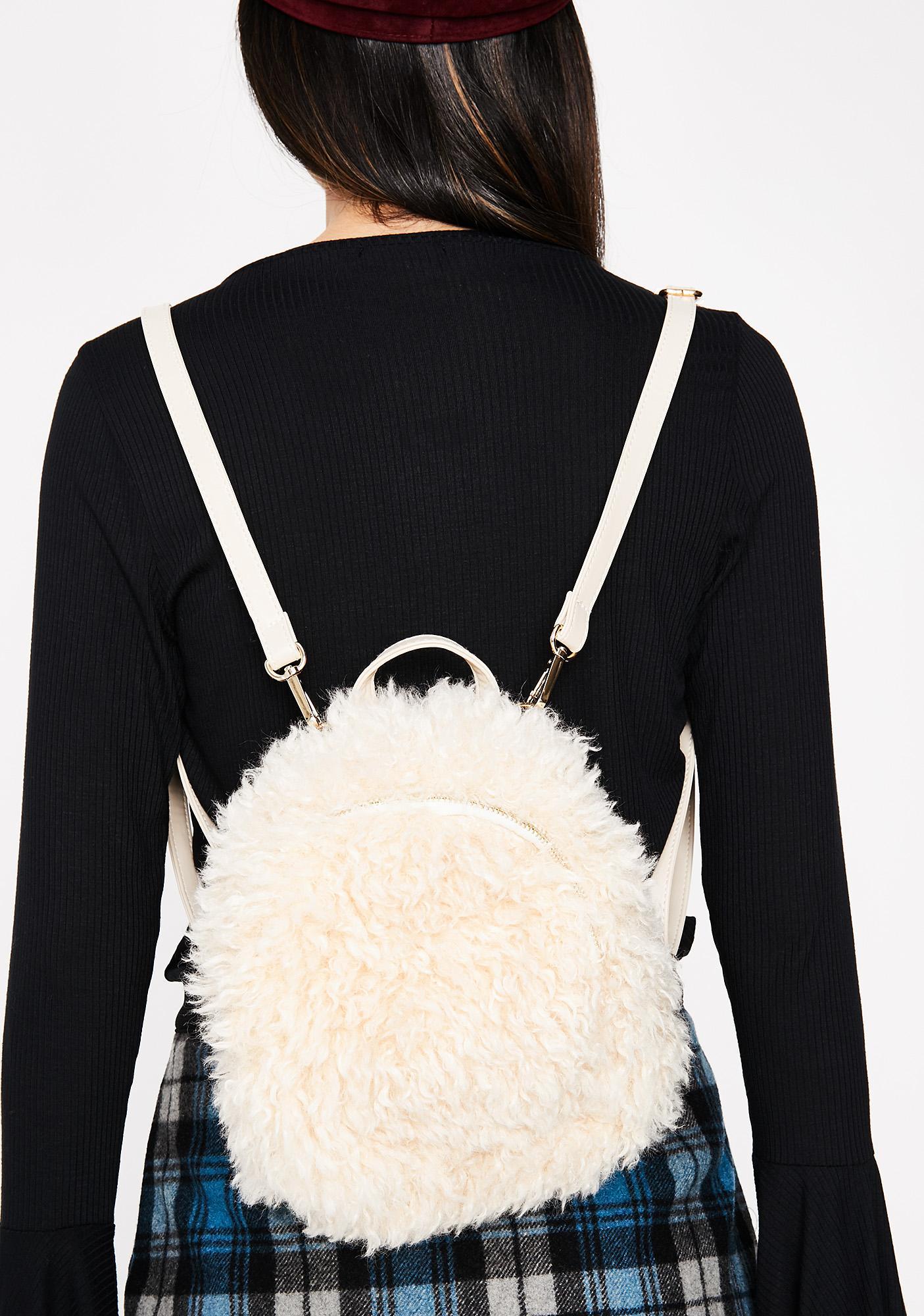 Little Lamb Shaggy Backpack
