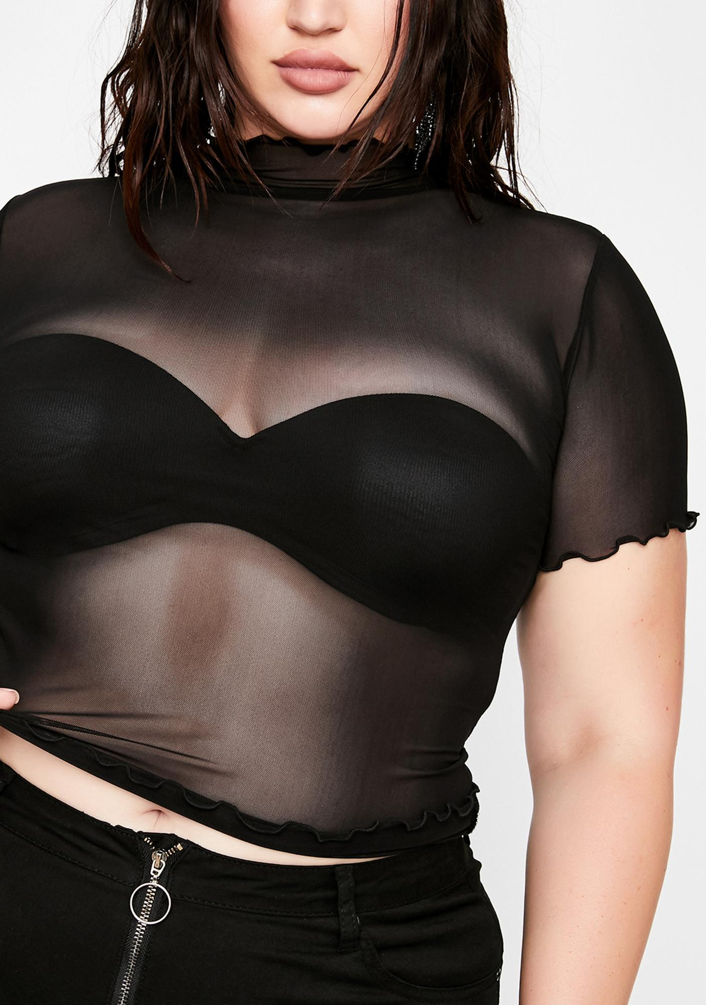 Her Lil Preview Sheer Top