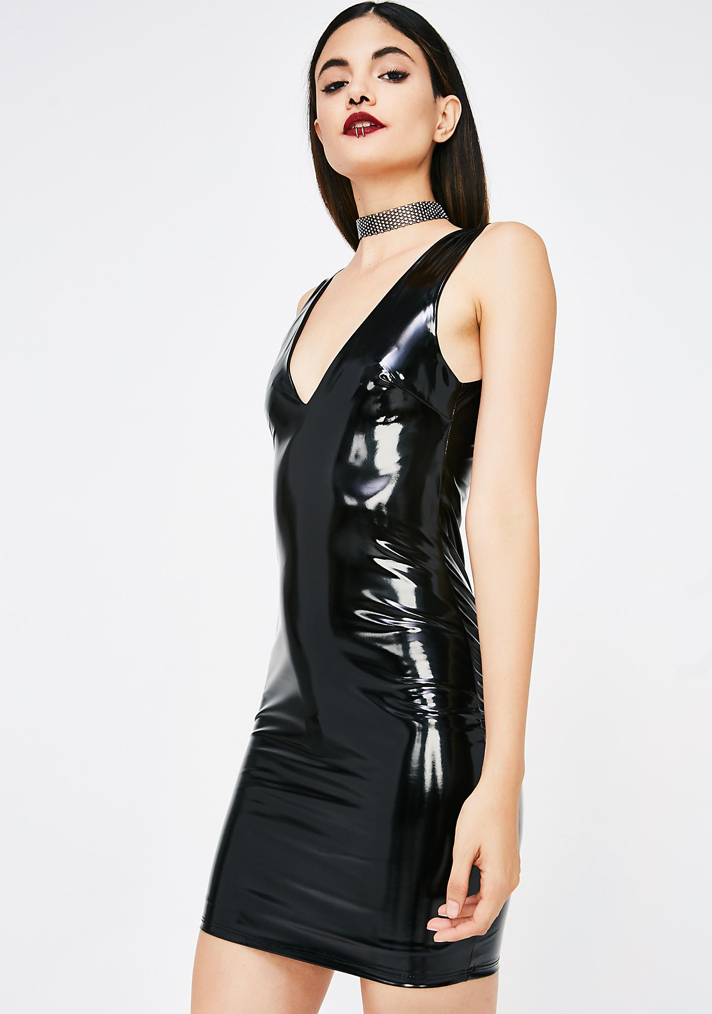 c93dd62170 Latex Vinyl Mini Dress | Dolls Kill