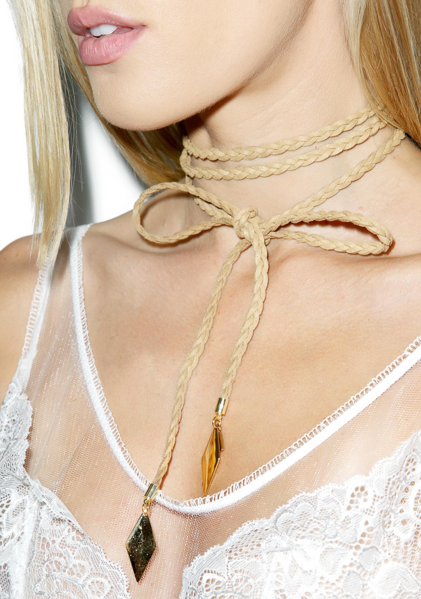 7fd988a57cb Vanessa Mooney The Braided Diamond Bolo Choker | Dolls Kill