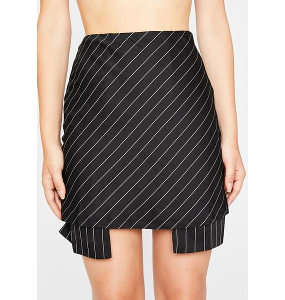Side Hustle Pinstripe Skirt