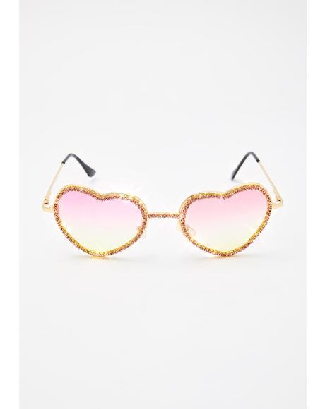 Sugar Buy My Love Rhinestone Sunglasses