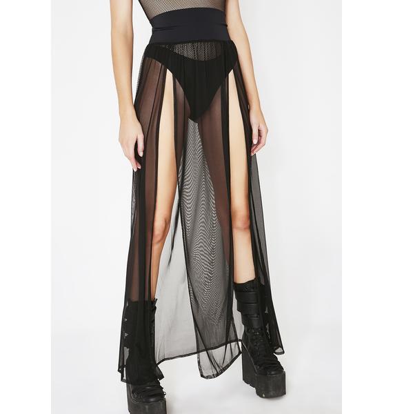 J Valentine Right Thru Ya Dual Slit Maxi Skirt