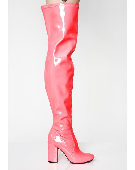 Toxic Truth Thigh High Boots